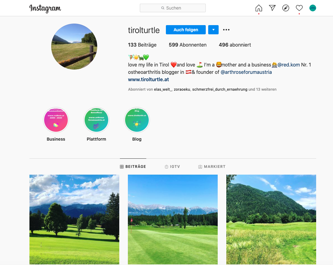 Instagram und Arthrose