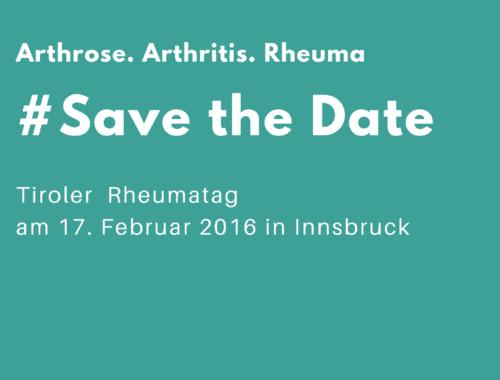 Rheumatag in Tirol und Oberösterreich