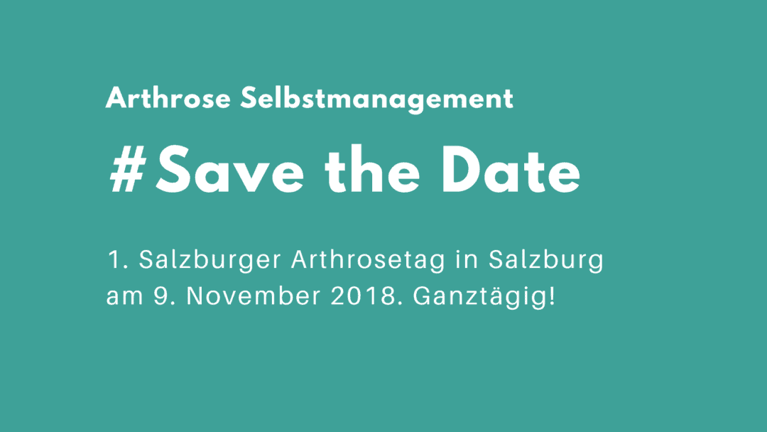 Save the Date Salzburger Arthrosetag