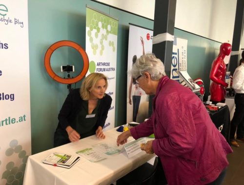 Arthrose Events für Betroffene mit Arthrose Bloggerin Barbara Egger